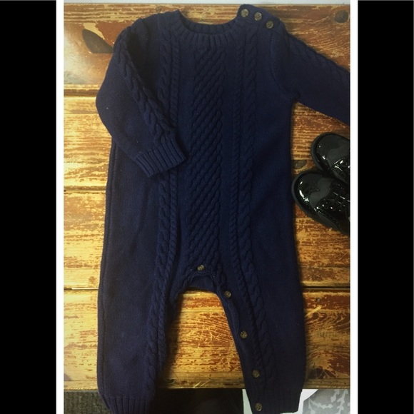 Gap One Pieces Baby Cableknit Sweater Romper Poshmark